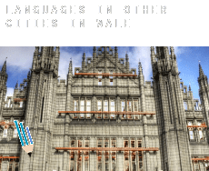 Languages in  Other cities in Wales